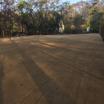 Empty equestrian arena